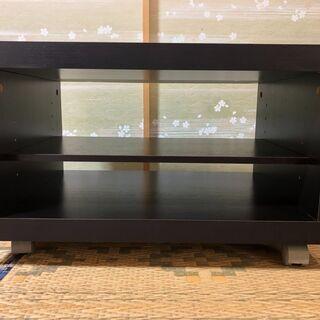 テレビ台(黒、キャスター付き)