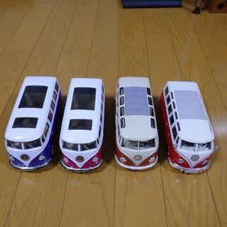 ワーゲンバス ミニカー 4台セット