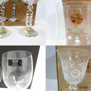 未使用☆ワイングラスまとめ!『RIEDEL リーデル』『ボヘミアリードクリスタルグラス』『ミレニアムボジョレーペアグラス』 - 売ります・あげます
