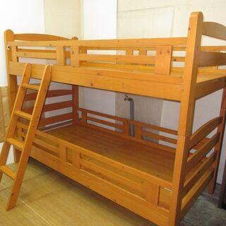 htp-693 二段ベッド ブラウン 102×206×154 宮...