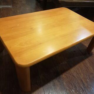 折れ脚ローテーブル(中古品・木製・キズあり)