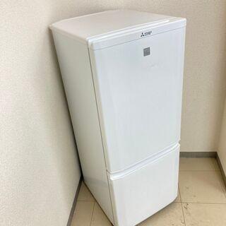 【良品】【地域限定送料無料】冷蔵庫 三菱 146L 2018年製 CRB091210 - 台東区