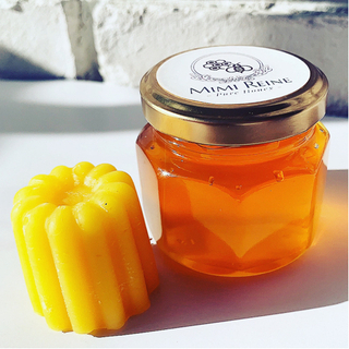 【ネット決済・配送可】国産天然蜂蜜と蜜蝋セット