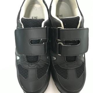 安全靴 26.5cm 美品 黒 。