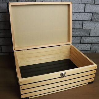 木製 ボックス アンティーク DIY コレクションケース(…