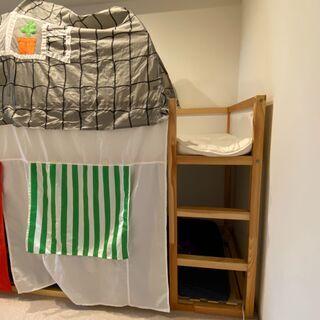 1段・2段 可変 ベッド 子供ベッド IKEA KURA  イケ...