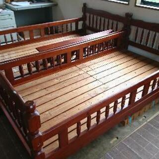 【ネット決済】★2段ベッド(木製家具) 平利用可能