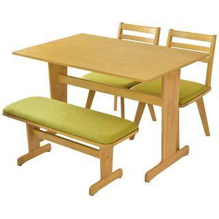 🌈Sダイニング4点セット【ライバ/ナチュラル色】テーブル …