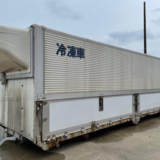 【ネット決済】コンテナ アルミバン 冷凍車ウイング 物置 倉庫な...