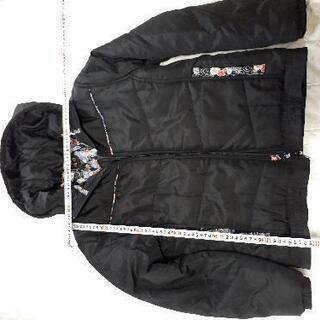 雅結(みやむすび)☆和柄の中綿ジャケット 黒 M