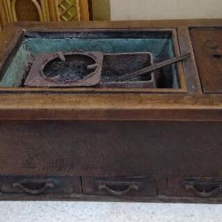 レトロアンティーク角火鉢 66×41×30