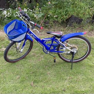 ブリヂストン自転車 MHF10 EX 22インチ 青 美品