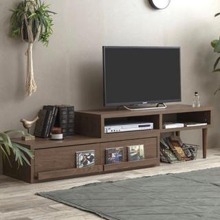 テレビ台 AVボード ブラウン の画像