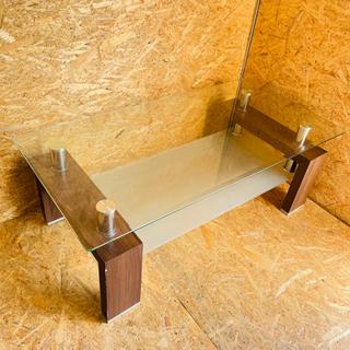 センターテーブル ガラステーブル 配送室内設置可能‼︎ K09024