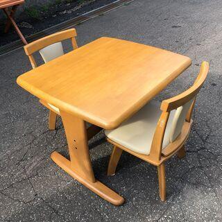 ☆NITORI/ニトリ ダイニングテーブルセット 90cm幅 D...