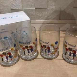 かわいいガラスコップ 4個セット