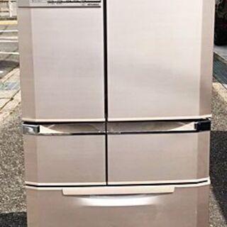 《三菱》冷凍冷蔵庫6ドア☆光ビッグ MR-E47S-F [フロ...