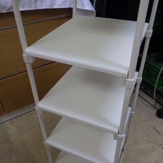 格安!店舗受け渡し可能 シューズラック 5段 白/ホワイト - 家具