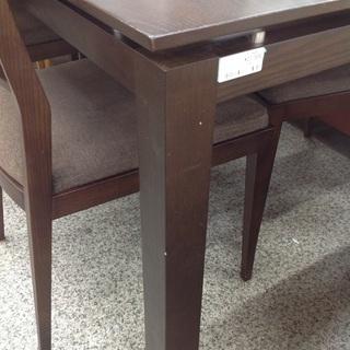 ダークブラウン 木製 ダイニング5点セット【9651165】 - 家具