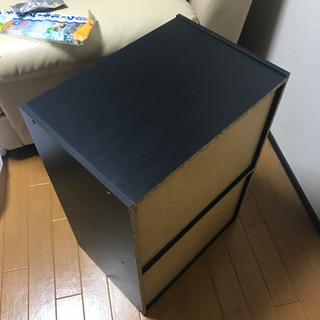 カラーボックス 黒 - 家具