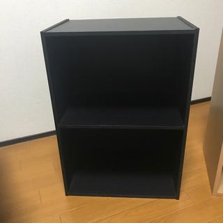 カラーボックス 黒の画像