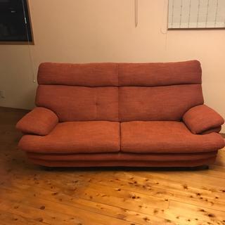 布製ソファ オレンジ 差し上げます
