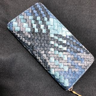 ブルー 水色 長財布 ウォレット