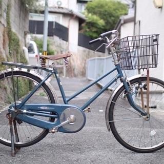 【ネット決済】レトロな実用自転車 ロッドブレーキ・革サドル