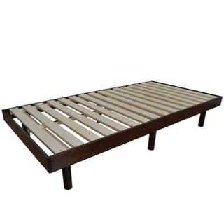 すのこベッド 天然木 セミダブルベッド 3段階高さ調節