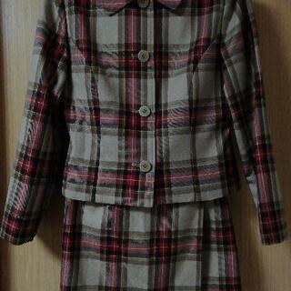 女の子卒業式に💠チェック ツーピース(巻きスカート)