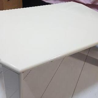 折りたたみローテーブル ホワイト 傷あり