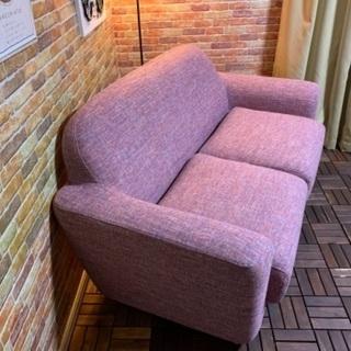 ☑️メルカ売約済み フランフラン「ヌボラ」未使用に近い2Pピンクソファー全面クリーニング済みエスハウス - 家具