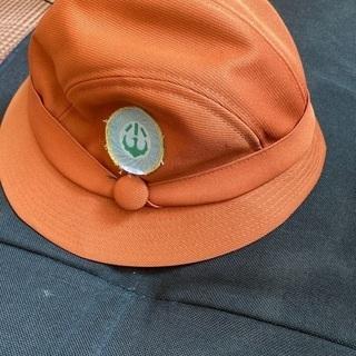 かりがね小 女児帽子 茶系ハット 通学帽