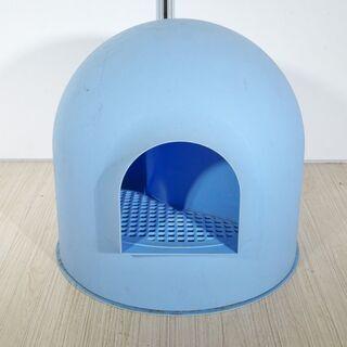 BOX 猫用トイレ ドーム型 ブルー [914-7]