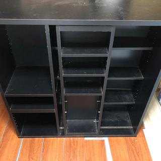 黒い棚 上下連結二つセット
