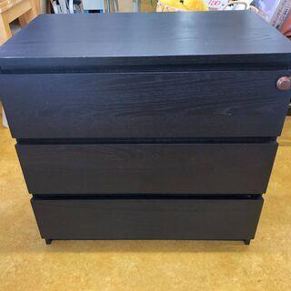 ウッド 3段チェスト 収納BOX