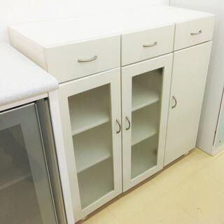 3面食器棚 ホワイト 白 宮崎 都城