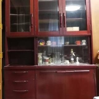 【明日24日まで】無料お届け・食器棚キャビネット花梨