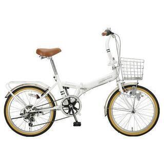 美品 折りたたみ自転車 6段変速  キャプテンスタッグ  荷台付