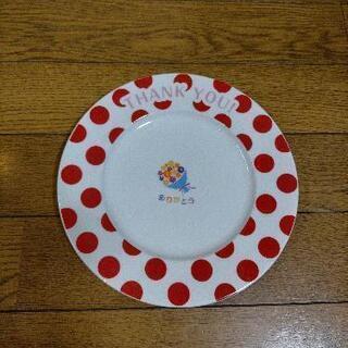赤い水玉 Thank you お皿