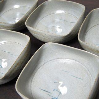 未使用☆四方小鉢 5個セット さぎ絵 たち吉 SH-58の画像