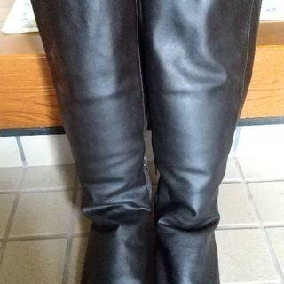 無印 濃茶色 ロングブーツSサイズ