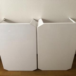 【ネット決済】【バラ売り可】白テーブル×2(横幅約90cm 縦幅...
