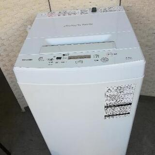 【23区送料無料】東芝洗濯機⭐4.5kg⭐2019年製⭐JJ47