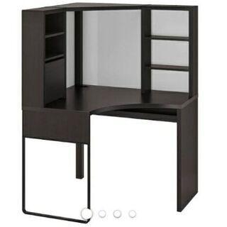 【ネット決済】IKEA机・黒(ミッケ) ※通常価格より80%オフ❗