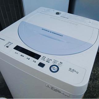配送無料🚛当日配送‼️コンパクトボディ シャープ 洗濯機 5.5...