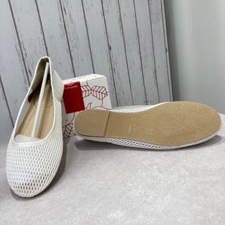 【ネット決済】wcloset  の🌿白メッシュ👠のぺたんこ靴