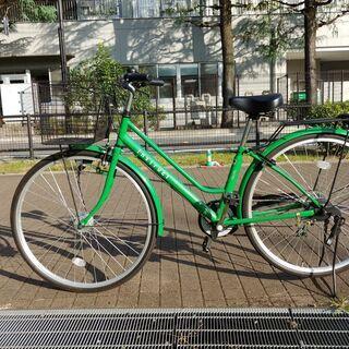 【屋根付き駐輪】27インチ自転車シマノ6段変速ギヤPanason...