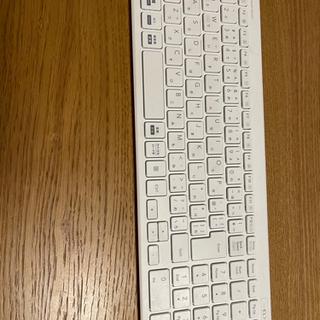 【中古】エレコム ワイヤレス キーボード ホワイト