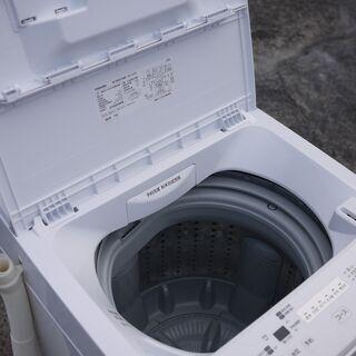 美品 20年製 東芝 4.5kg 全自動洗濯機 AW-45M7-W ピュアホワイト ステンレス槽 つけおきコース搭載 - 家電